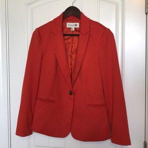 Forever 21 orange blazer
